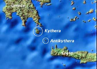 situación de Antikythera