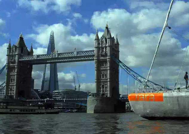 buque francés de investigación Tara en Londres