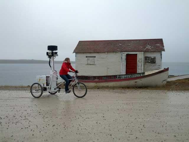 triciclo de Google Street View en Cambridge Bay