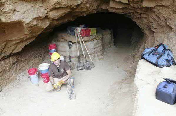cueva de la Mujer Solitaria, de la isla de San Nicolás
