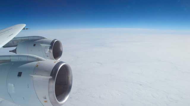 DC 8 de la operación IceBridge
