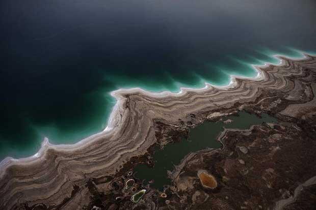 dolinas en el Mar Muerto cerca de Kibbutz Ein Gedi