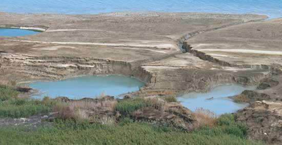 dolinas en el Mar Muerto