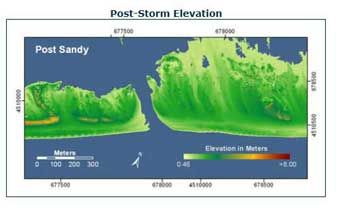 dunas en Fire Island despues del paso del huracán Sandy