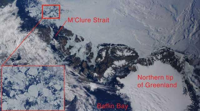 hielo marino en el estrecho de McClure