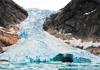glaciar Briksdalsbreen - Noruega, en 2004