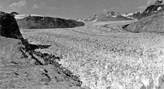 glaciar Muir, Shrinkage - Alaska, en 1941