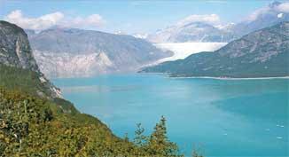 glaciar Muir, Shrinkage - Alaska, en 2004