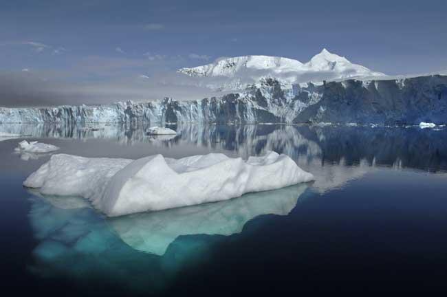 glaciar Sheldon en loa Antártida