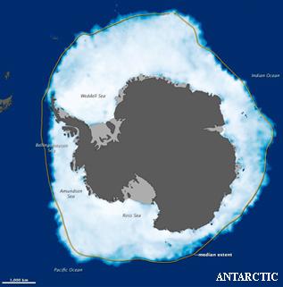 extensión del hielo marino Antártico en 2012