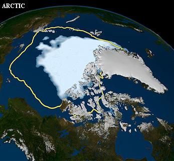 extensión del hielo marino Ártico en 2012