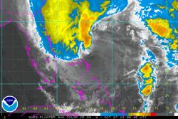 huracán Sandy desde satélite