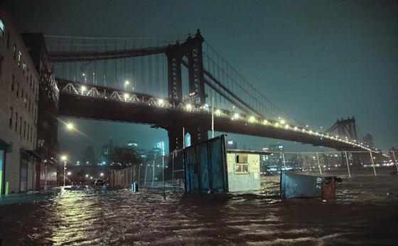 inundaciones en Manhattan Bridge