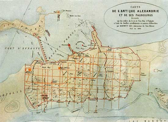 mapa antiguo de Alejandría