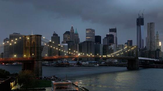 New York sin luz al paso del huracán Sandy