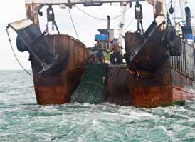 lance de un barco de pesca en Sierra Leona