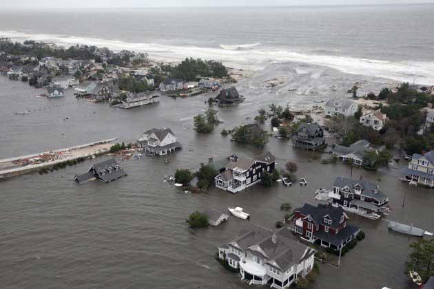 daños de Sandy en la ciudad de Mantoloking, New Jersey
