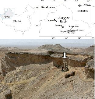sitio en China con fósiles de tortugas del Jurásico