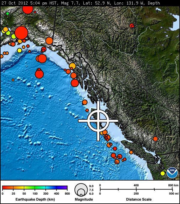 terremoto Canadá 28-10-2012
