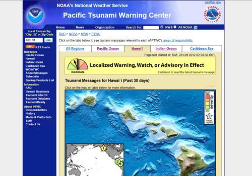 rebajada alerta de tsunami para Hawaii