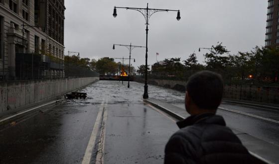 tunel inundado en New York