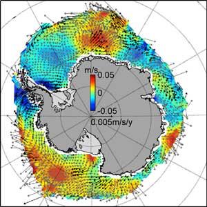 los vientos producen cambios en el hielo marino de la Antártida