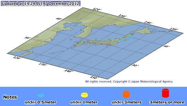 alerta de tsunami en Sanriku Oki, Japón
