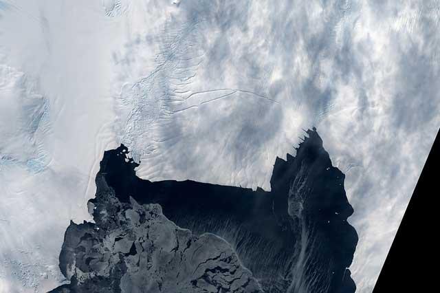 frente de glaciar Pine Island 26 de octubre de 2012