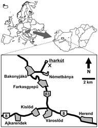situación Iharkut, Hungría