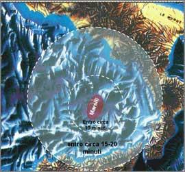 tiempo de desplazamiento de un posible tsunami en Marsili