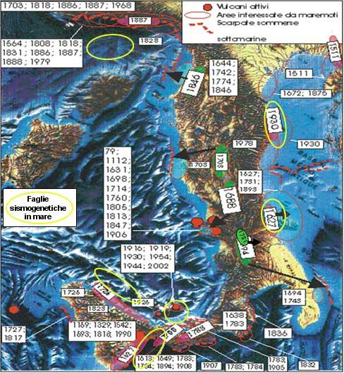 tsunamis en Italia en los últimos 2000 años
