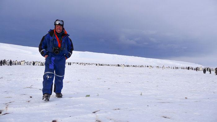 Alain Hubert, en la nueva colonia de pingüinos emperador