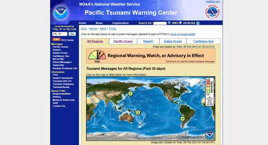 aviso de tsunami en las Islas Salomón