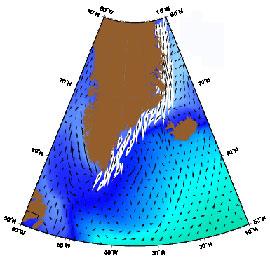 corrientes marinas del este de Groenlandia