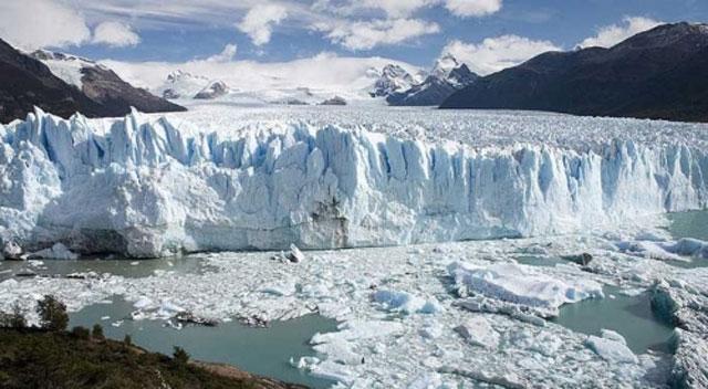 frente de un glaciar de la Patagonia