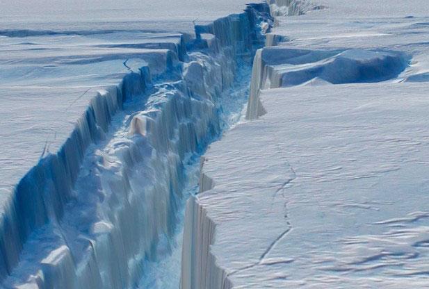 grieta del Glaciar Pine Island