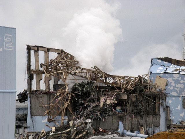 interior de Fukushima tras el tsunami de 2011