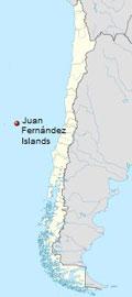 localización de las islas de Juan Fernández