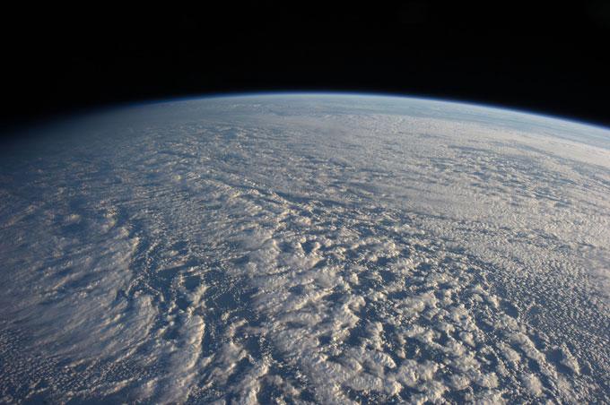 nubes estratocúmulos sobre el Pacífico