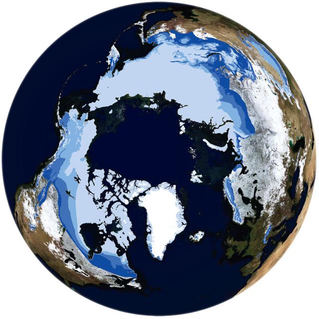 permafrost en el Hemisferio Norte