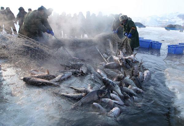 pesca en el hielo en China