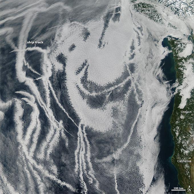 pistas de buques en América del Norte