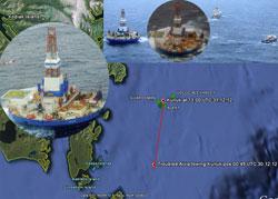 plataforma petrolera Kulluk encallada en Alaska, mapa
