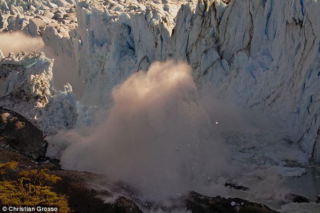 ruptura del puente de hielo del Glaciar Perito Moreno