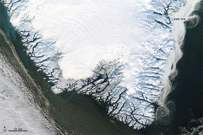 el sur de Groenlandia en invierno