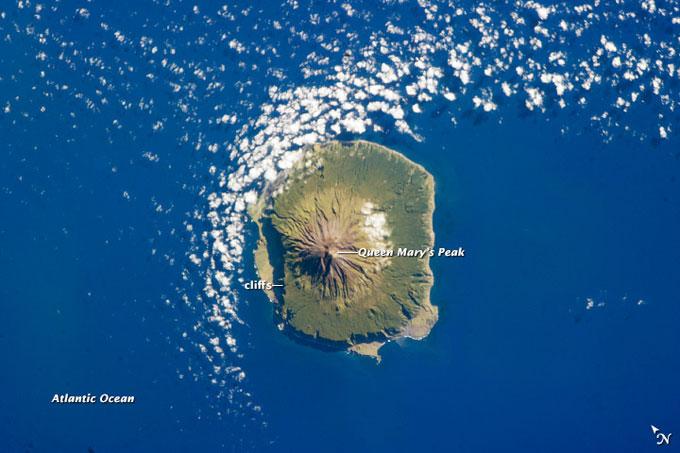 Tristan da Cunha desde el espacio