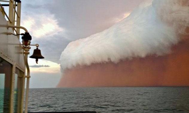 tsunami de polvo rojo en Australia