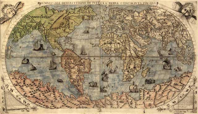 antiguo Mapa Mundi