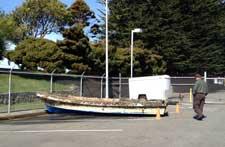 bote del tsunami japonés varado en California