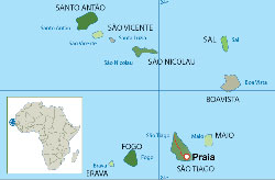 Archipiélago de Cabo Verde - mapa